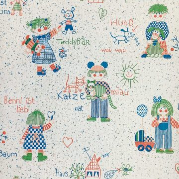 Vintage retro kids wallpaper