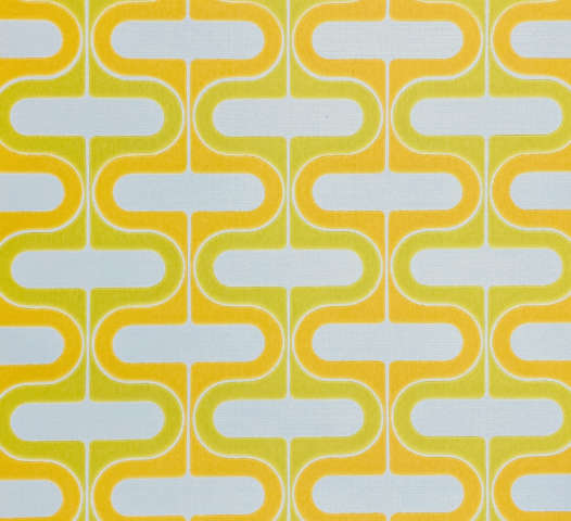 Retro Orange and Green Geometric Wallpaper