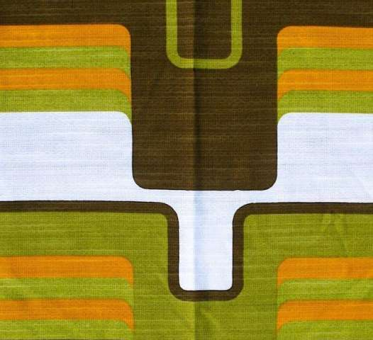Vintage green geometric fabric