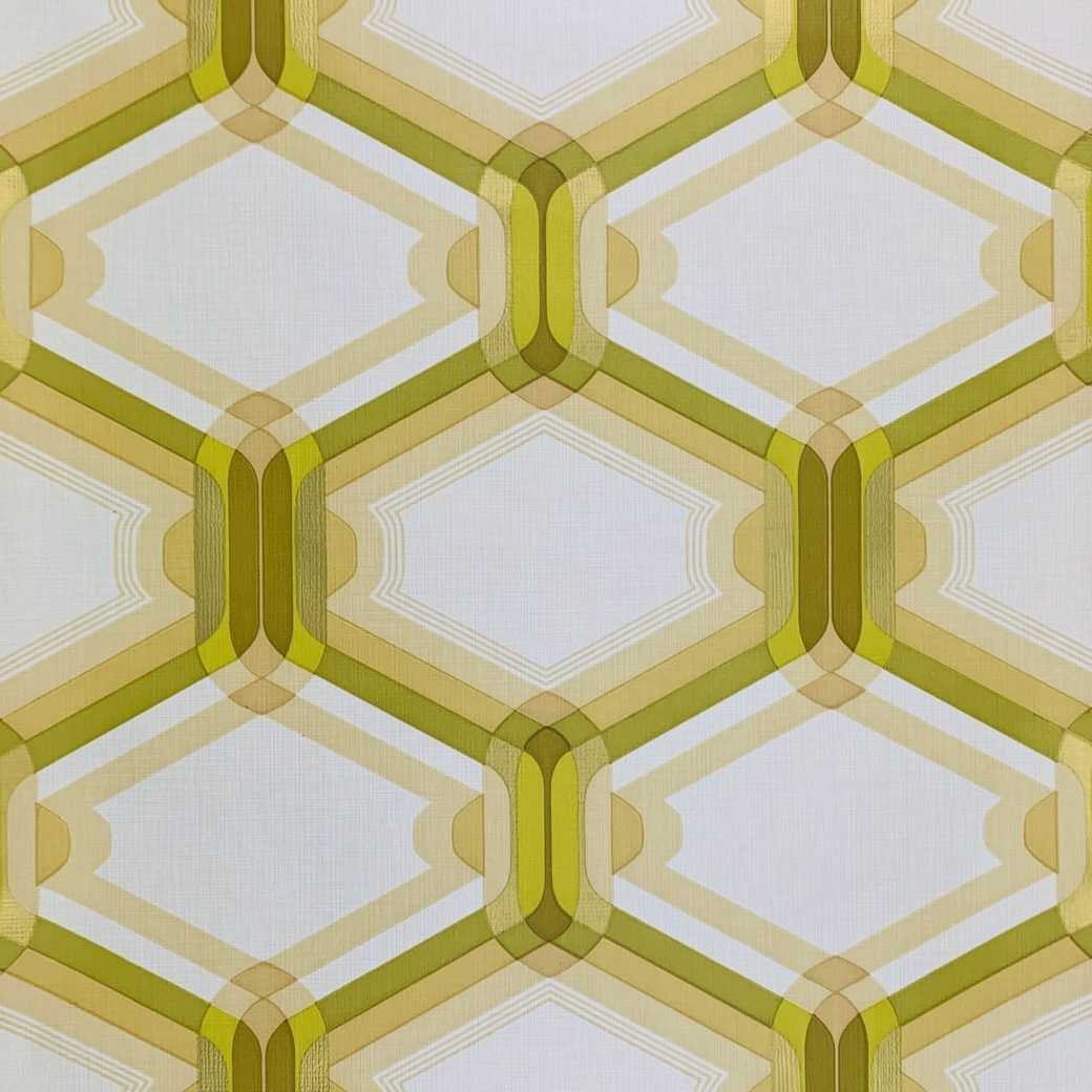 Retro Wallpaper Gold and Green 1