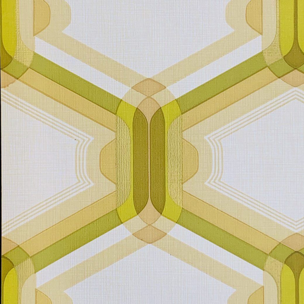 Retro Wallpaper Gold and Green 2