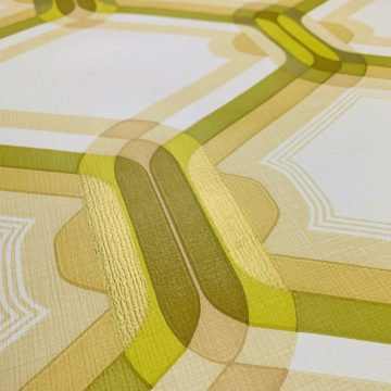Retro Wallpaper Gold and Green 3