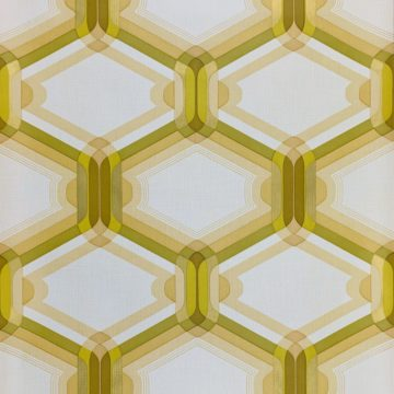 Retro Wallpaper Gold and Green