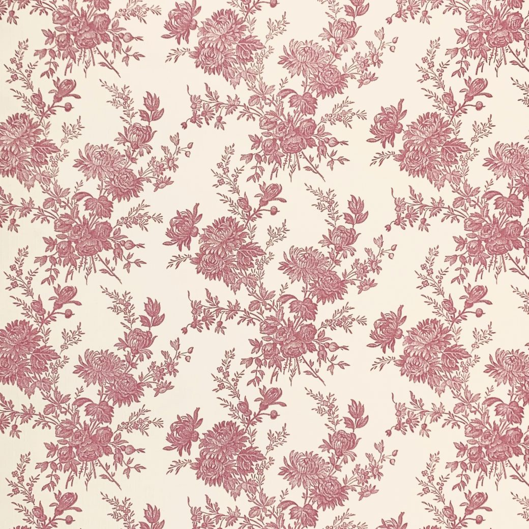 Romantic 1950s Floral wallpaper 1