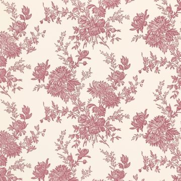 Romantic 1950s Floral wallpaper 4