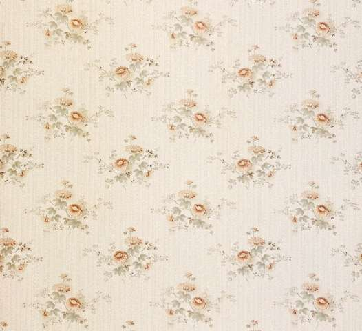 Romantic 1960s Floral Wallpaper 1