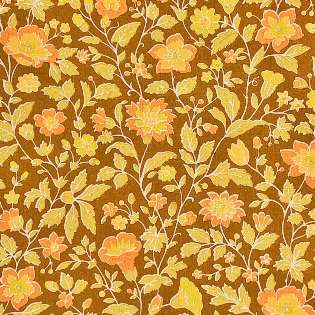 Romantic brown floral wallpaper 2