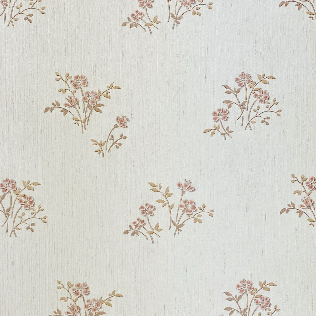 Shinny Floral Wallpaper Red and Brown 5
