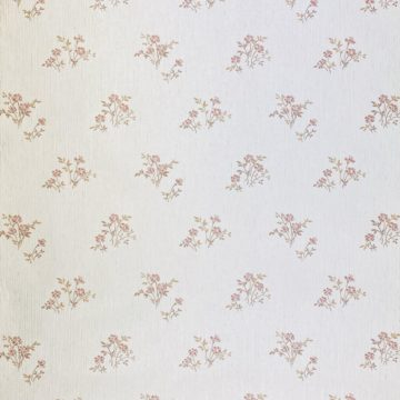 Shinny Floral Wallpaper Red and Brown 1