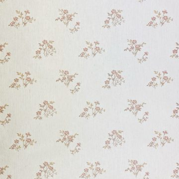 Shinny Floral Wallpaper Red and Brown 2