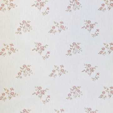 Shinny Floral Wallpaper Red and Brown 3