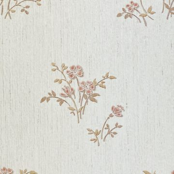 Shinny Floral Wallpaper Red and Brown 8
