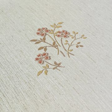 Shinny Floral Wallpaper Red and Brown 9