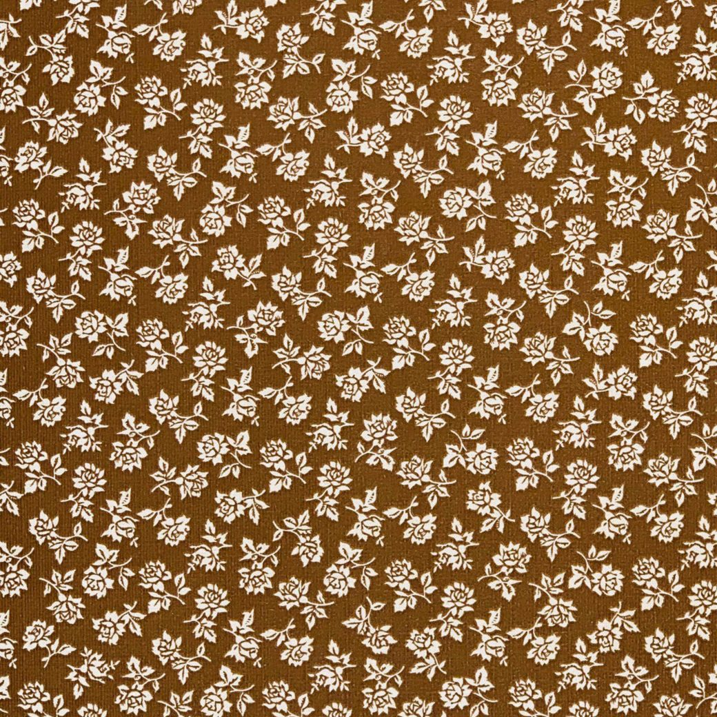 Small pattern floral wallpaper