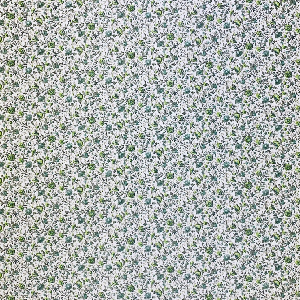 Small Pattern Floral Wallpaper Green 2