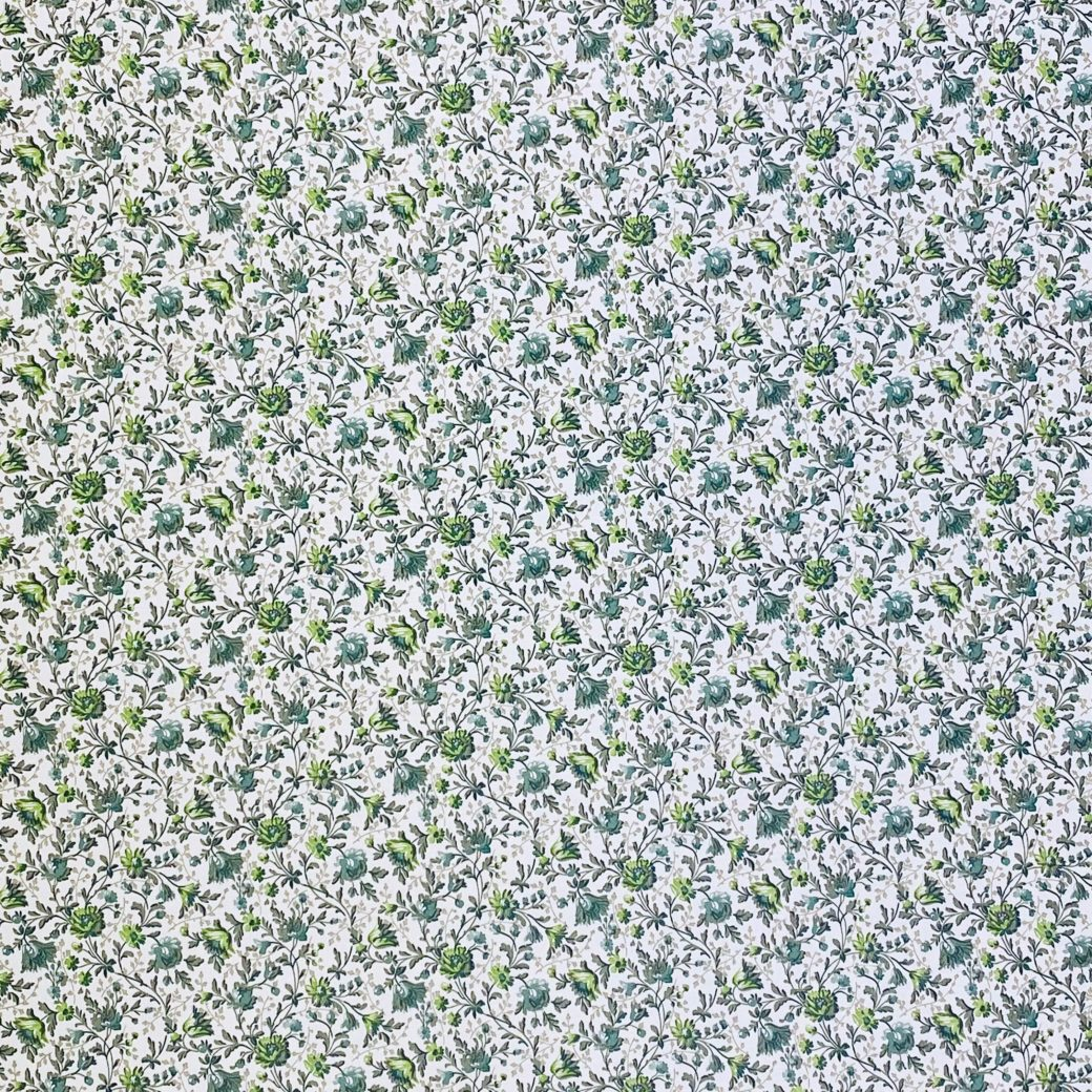 Small Pattern Floral Wallpaper Green 4