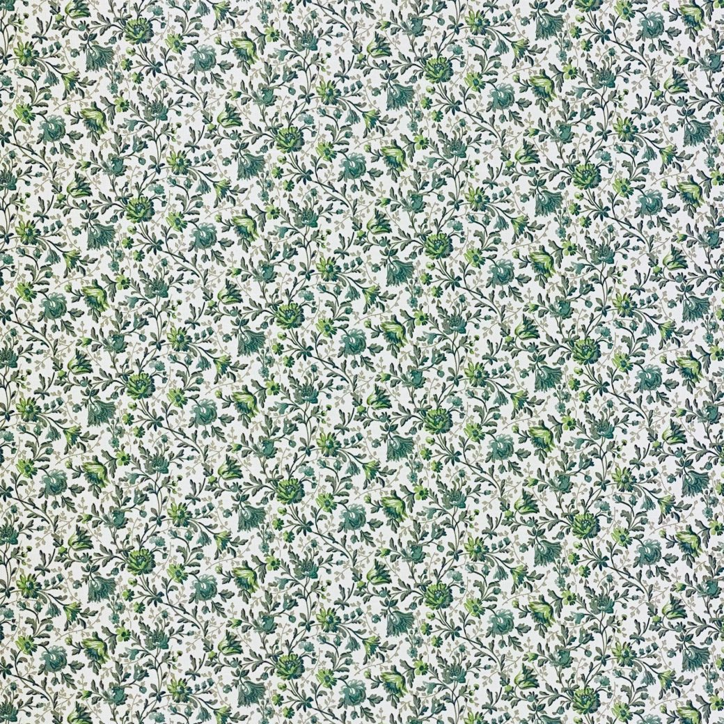 Small Pattern Floral Wallpaper Green 5