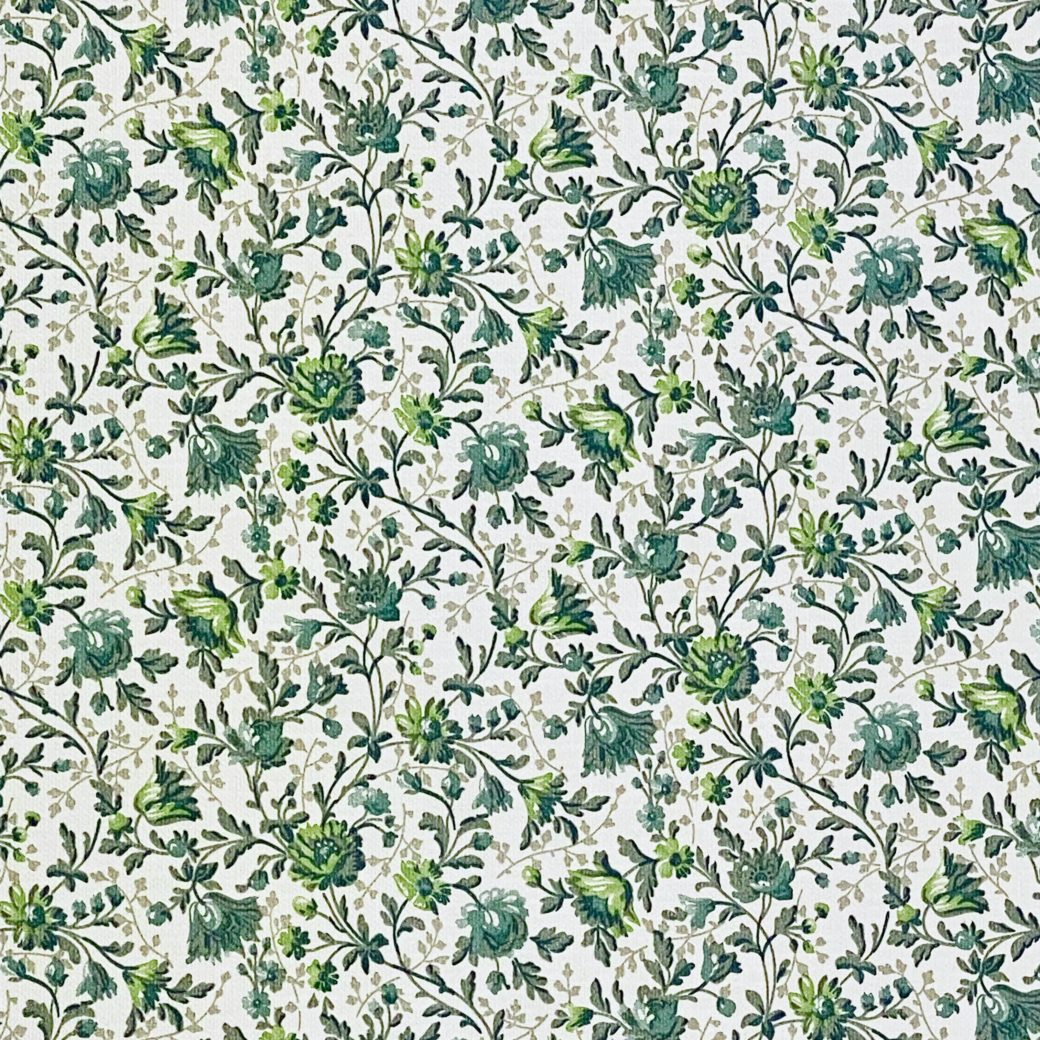 Small Pattern Floral Wallpaper Green 7