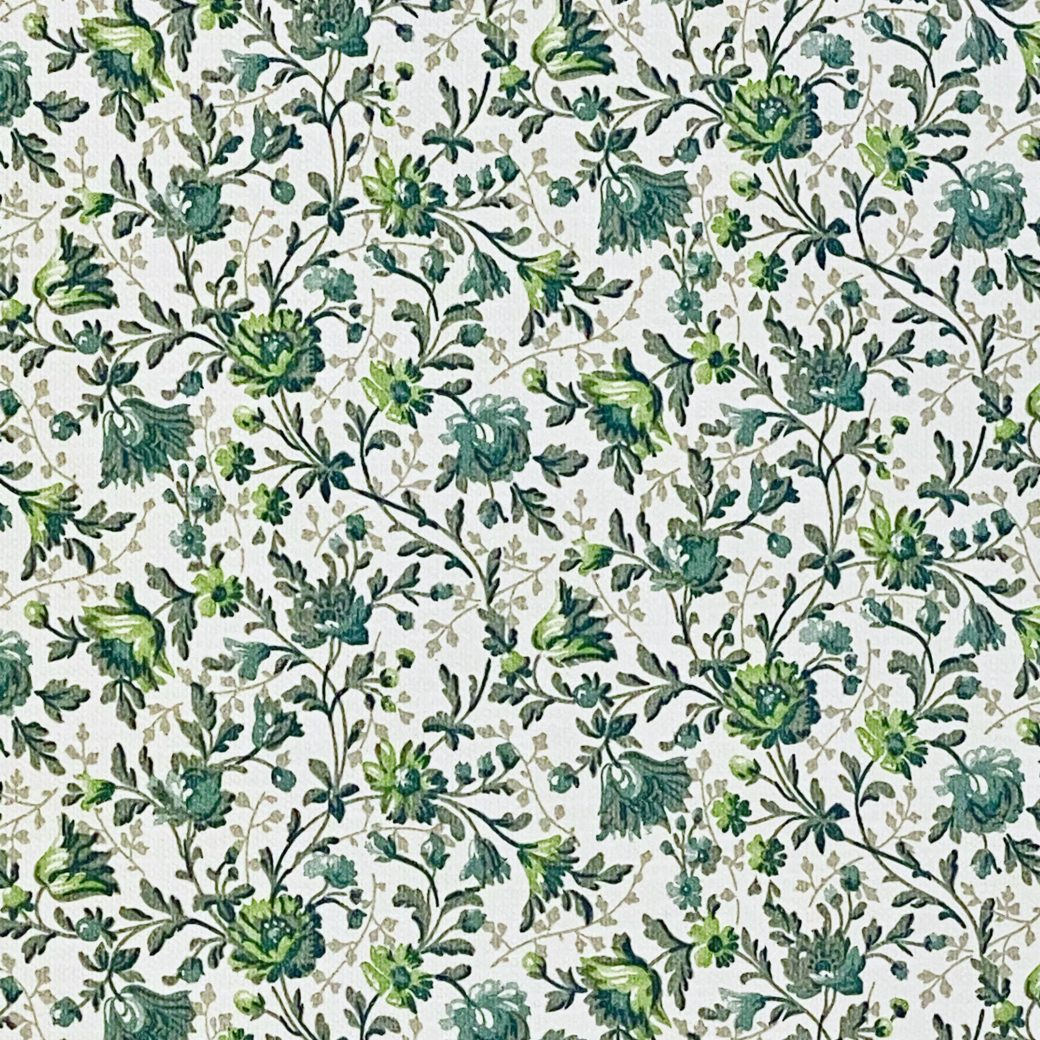 Small Pattern Floral Wallpaper Green 8