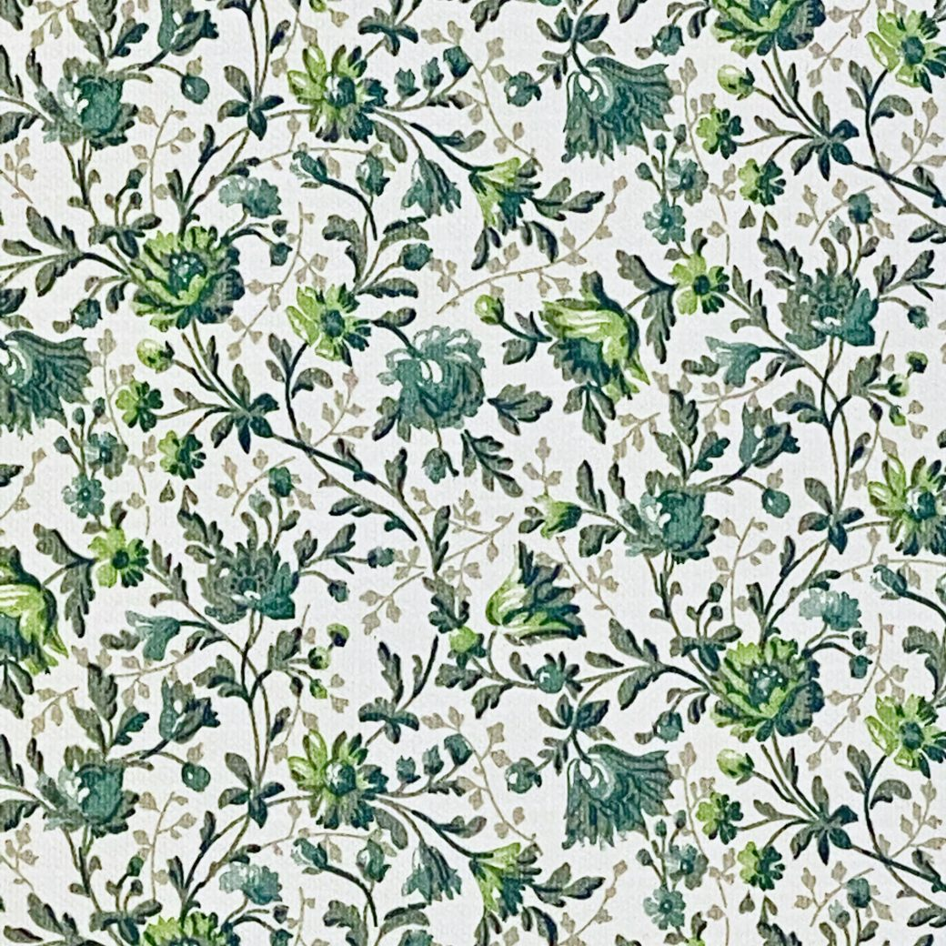 Small Pattern Floral Wallpaper Green 9