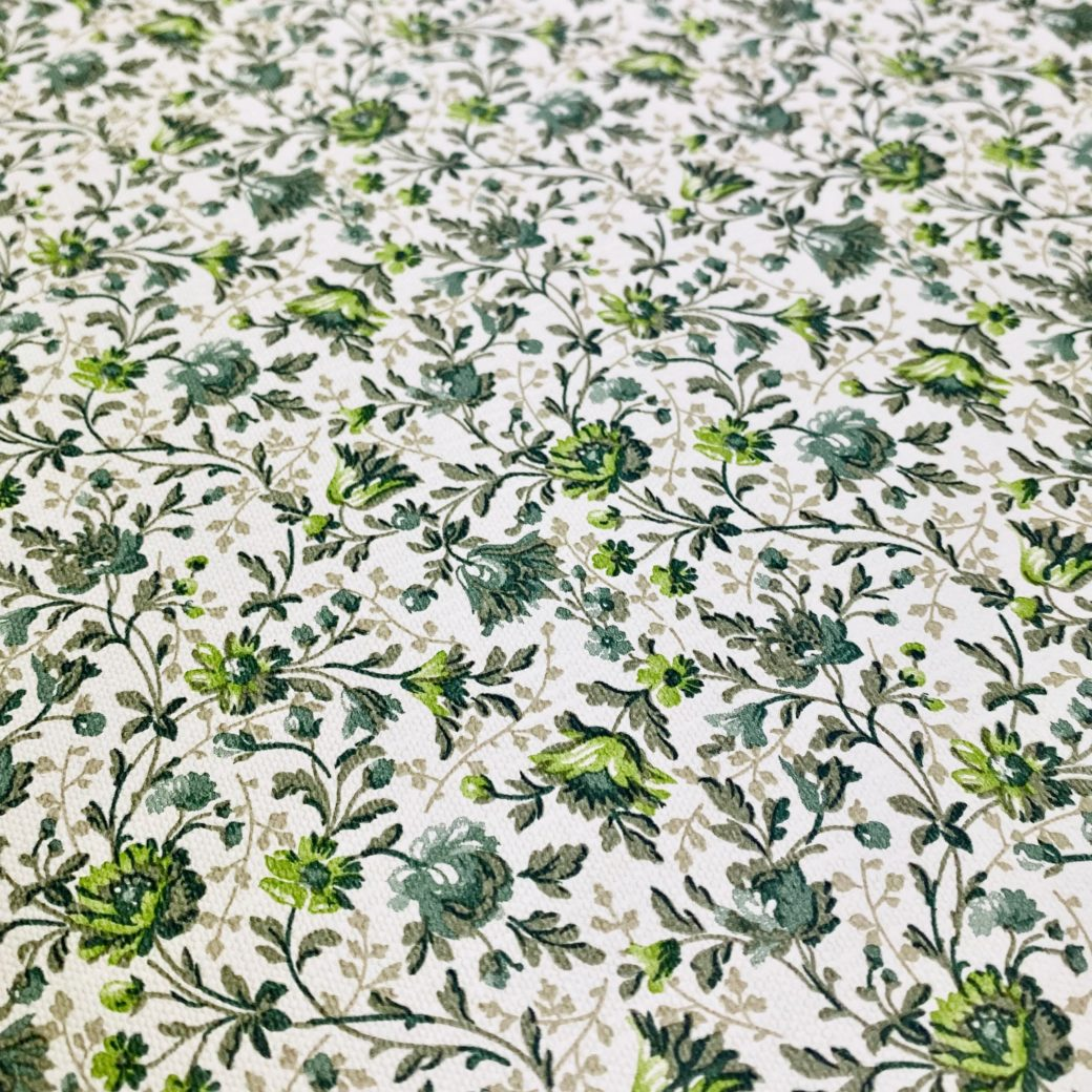 Small Pattern Floral Wallpaper Green 10