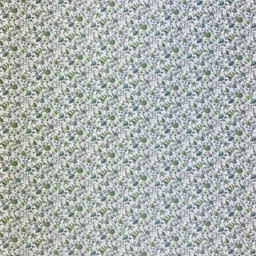 Small Pattern Floral Wallpaper Green 1