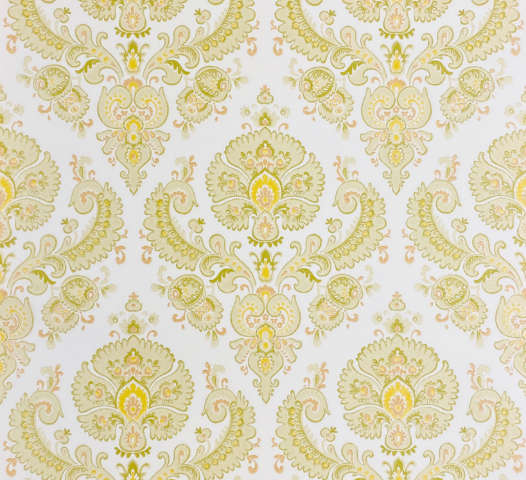 Soft Green Baroque Wallpaper
