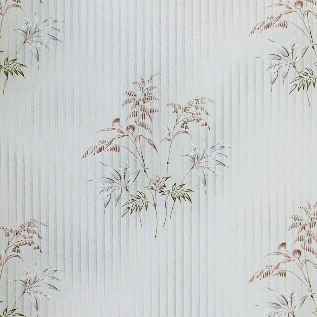 Striped Floral Wallpaper 2
