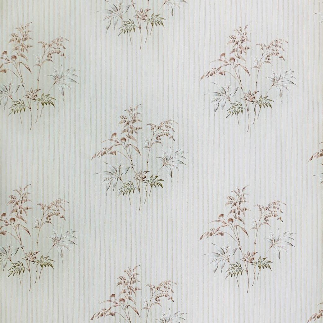 Striped Floral Wallpaper