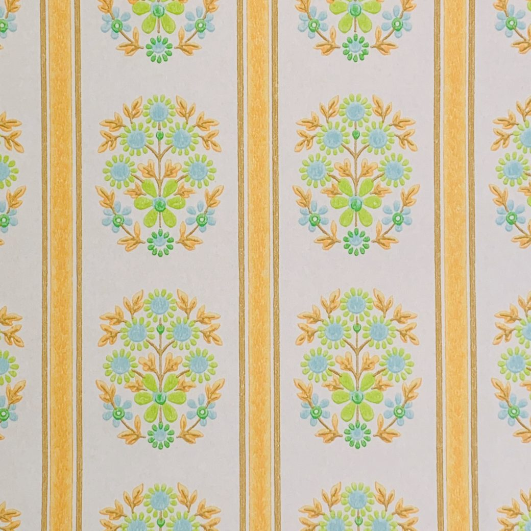 Striped floral wallpaper 3