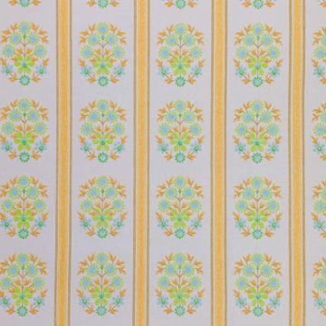 Striped floral wallpaper 1