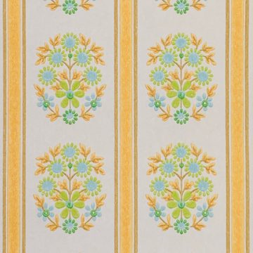 Striped Floral Wallpaper 4