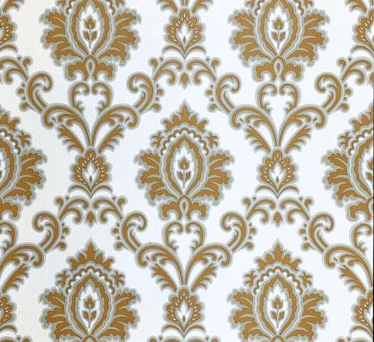 Silver baroque wallpaper