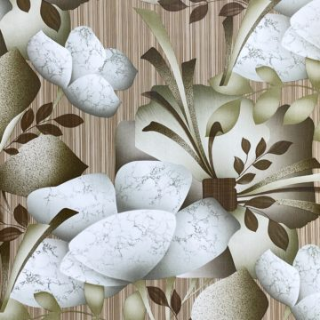 Vintage Abstract Floral Wallpaper 2