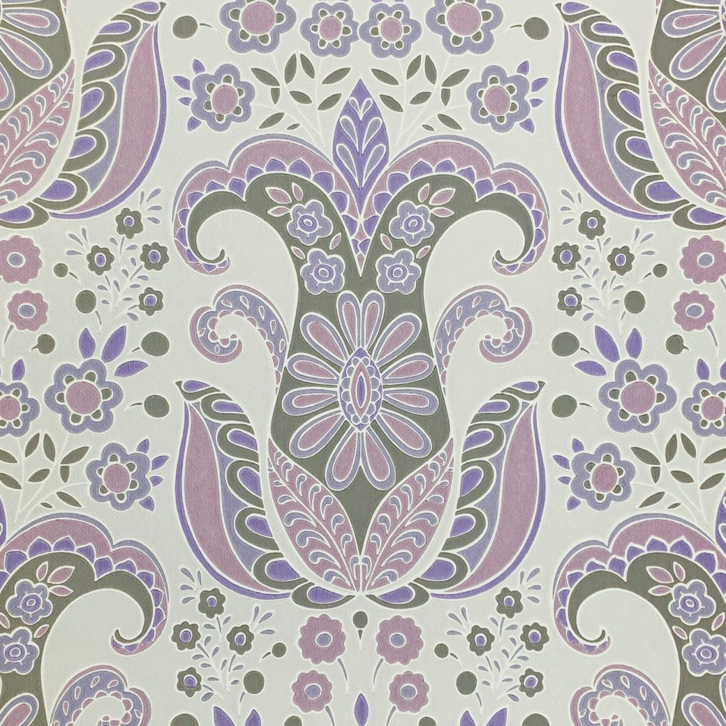 Vintage Abstract Floral Wallpaper 1