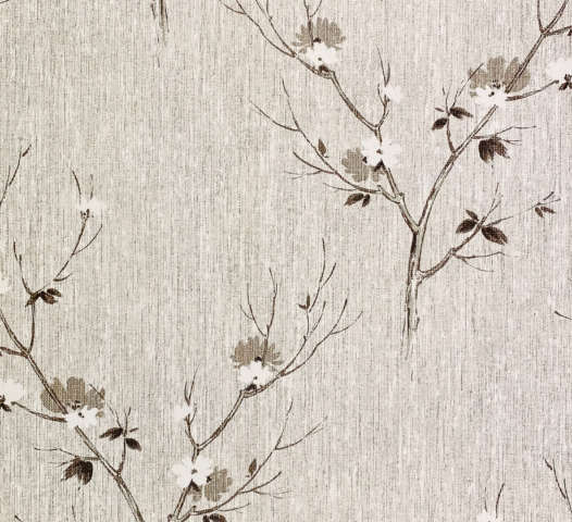 Vintage Asian Style Floral Wallpaper