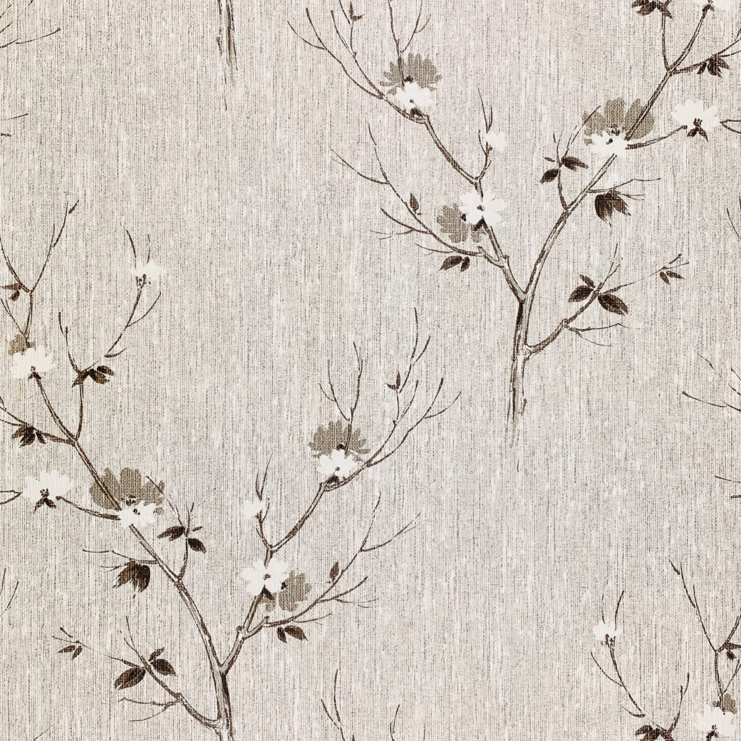 Vintage Asian Style Floral Wallpaper 1