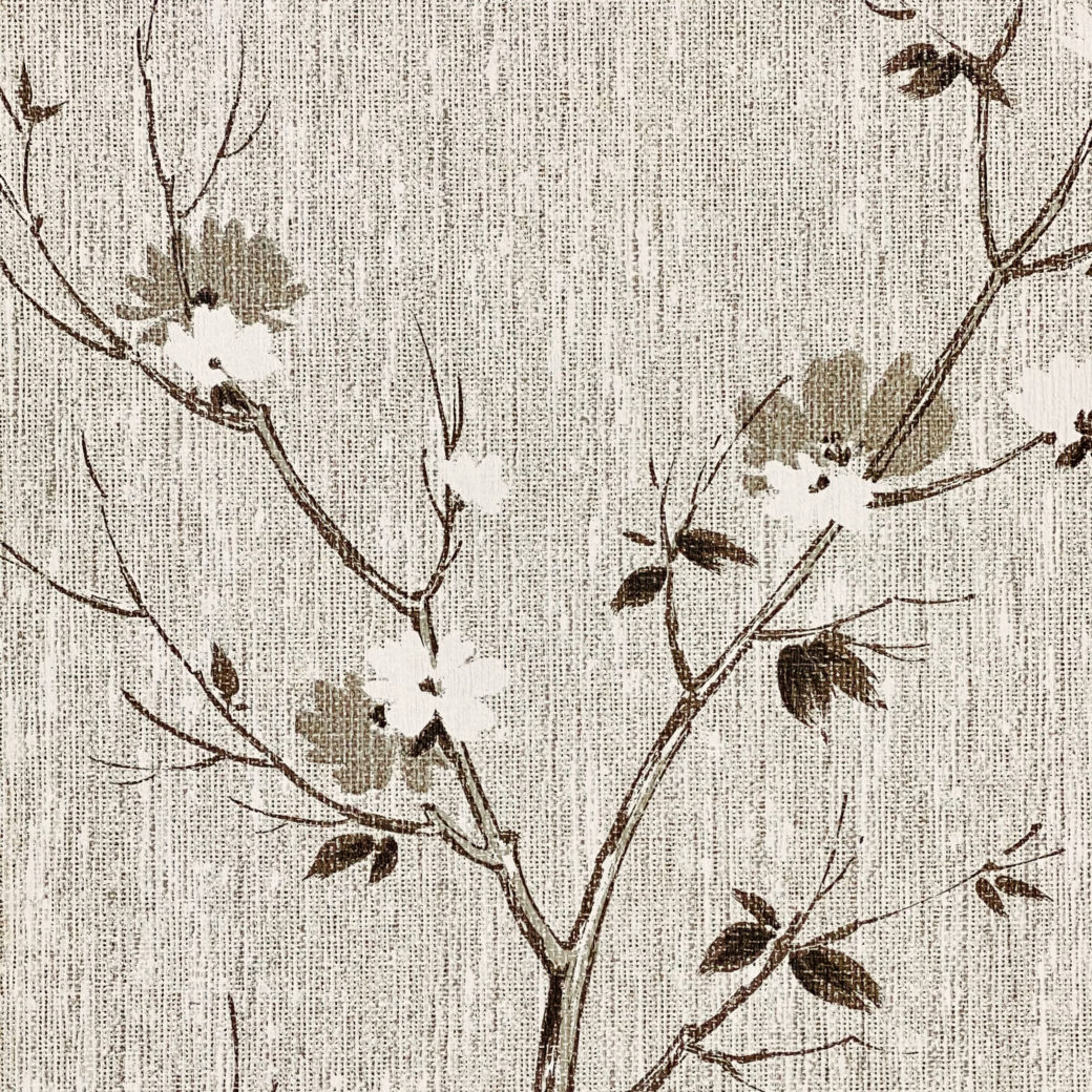 Vintage Asian Style Floral Wallpaper 2