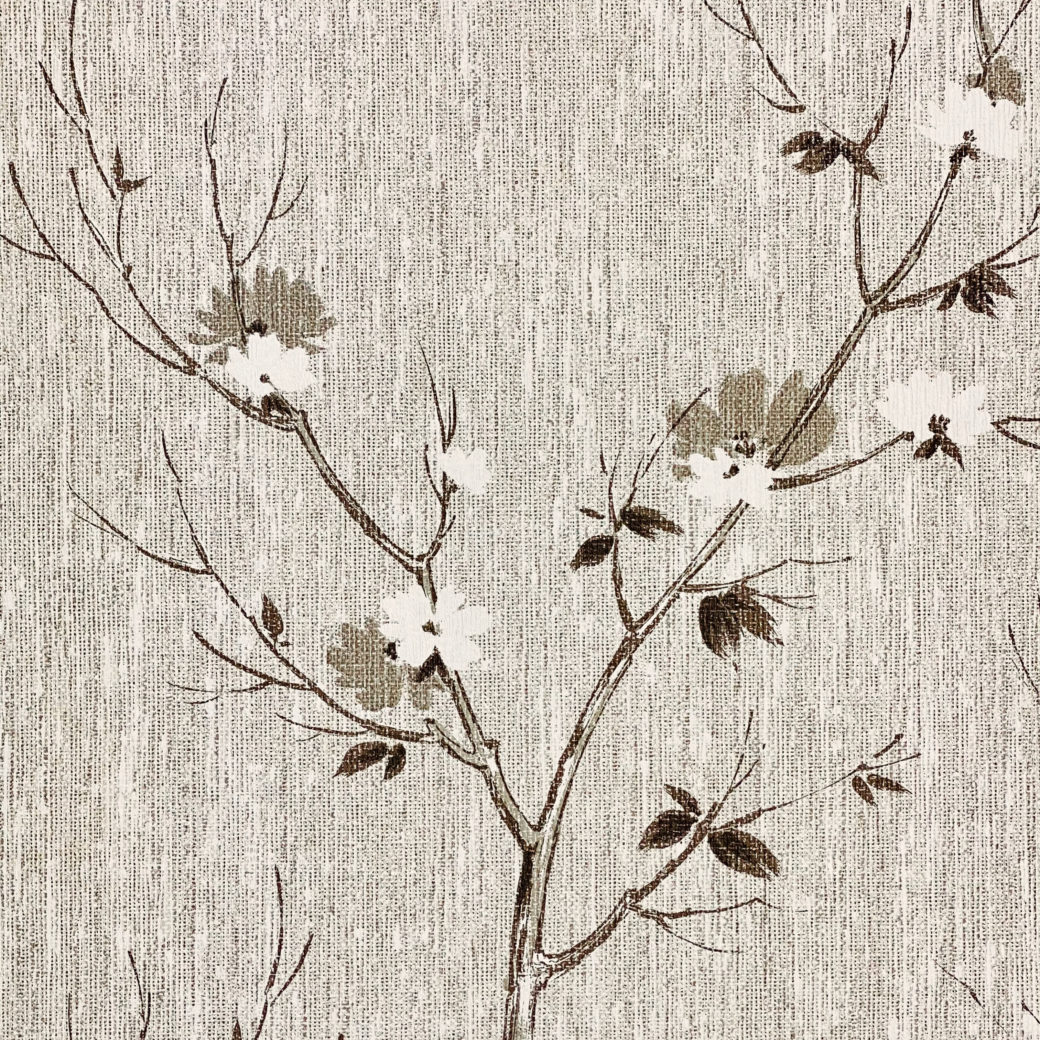 Vintage Asian Style Floral Wallpaper 4