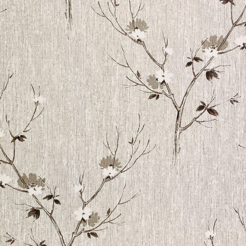 Vintage Asian Style Floral Wallpaper 5