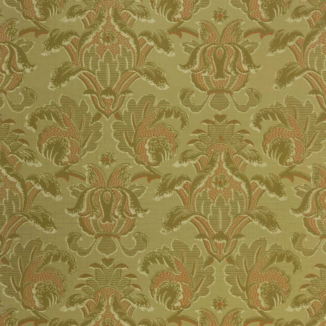 Vintage baroque green wallpaper 1