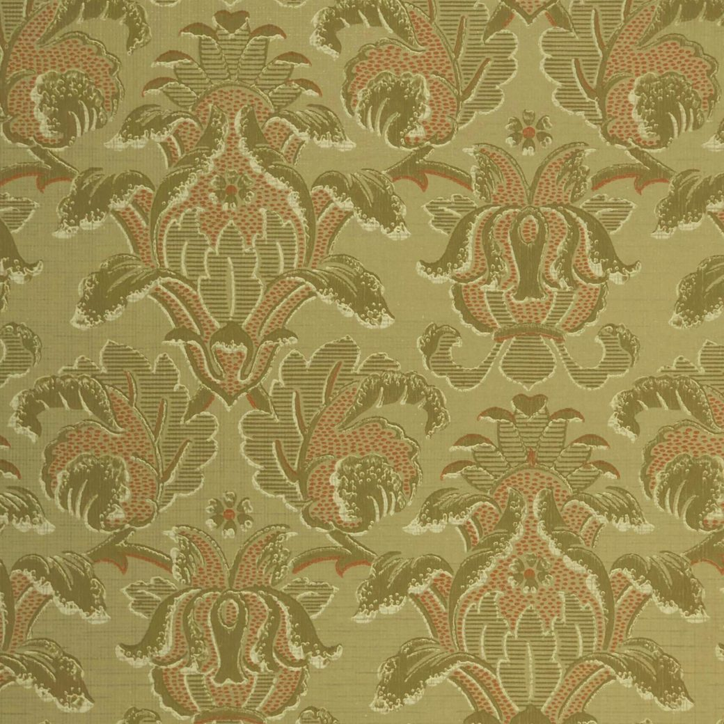 Vintage baroque green wallpaper 2