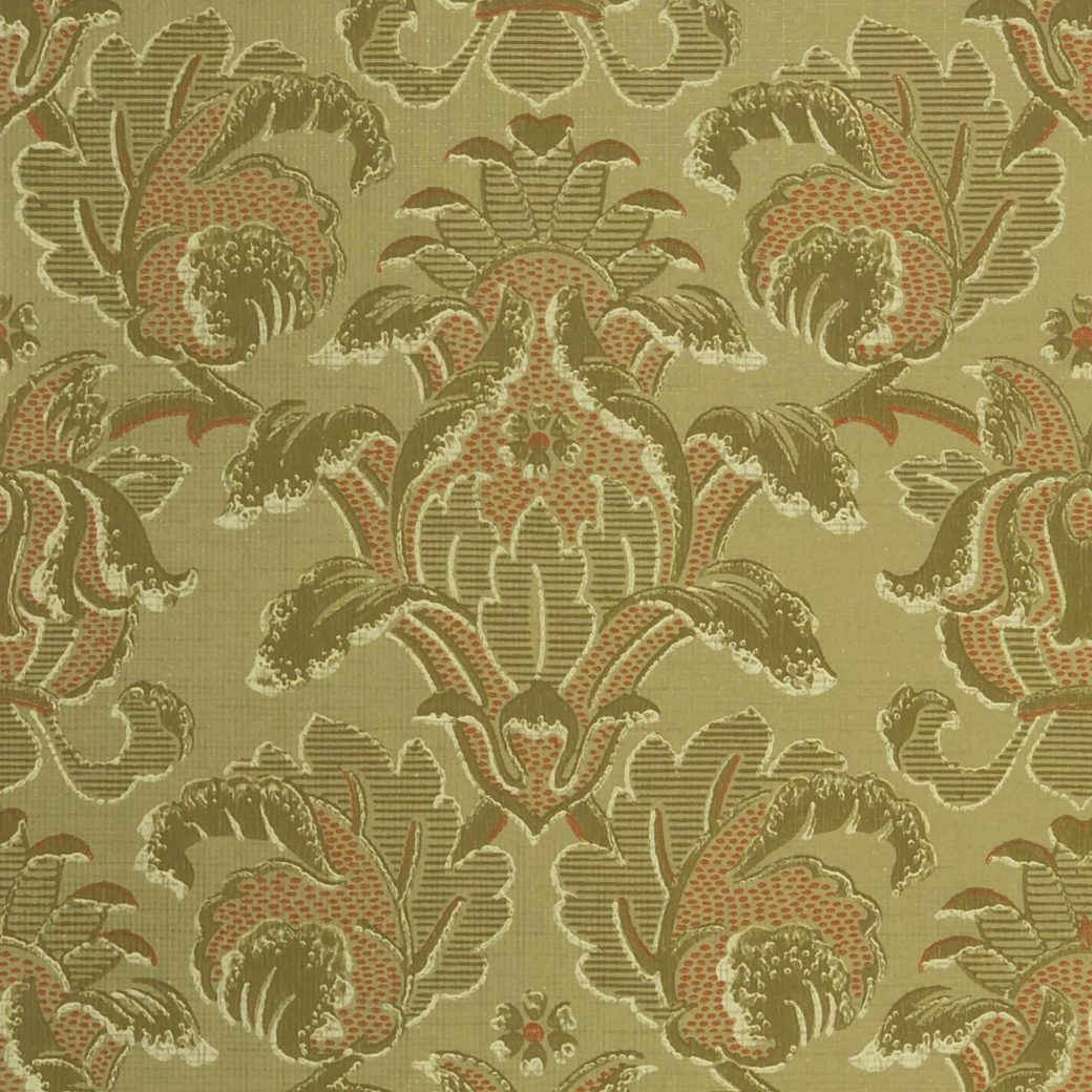 Vintage baroque green wallpaper