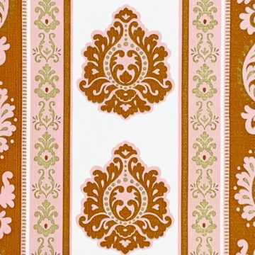 Vintage baroque stripes wallpaper 3
