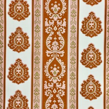 Vintage baroque stripes wallpaper 2
