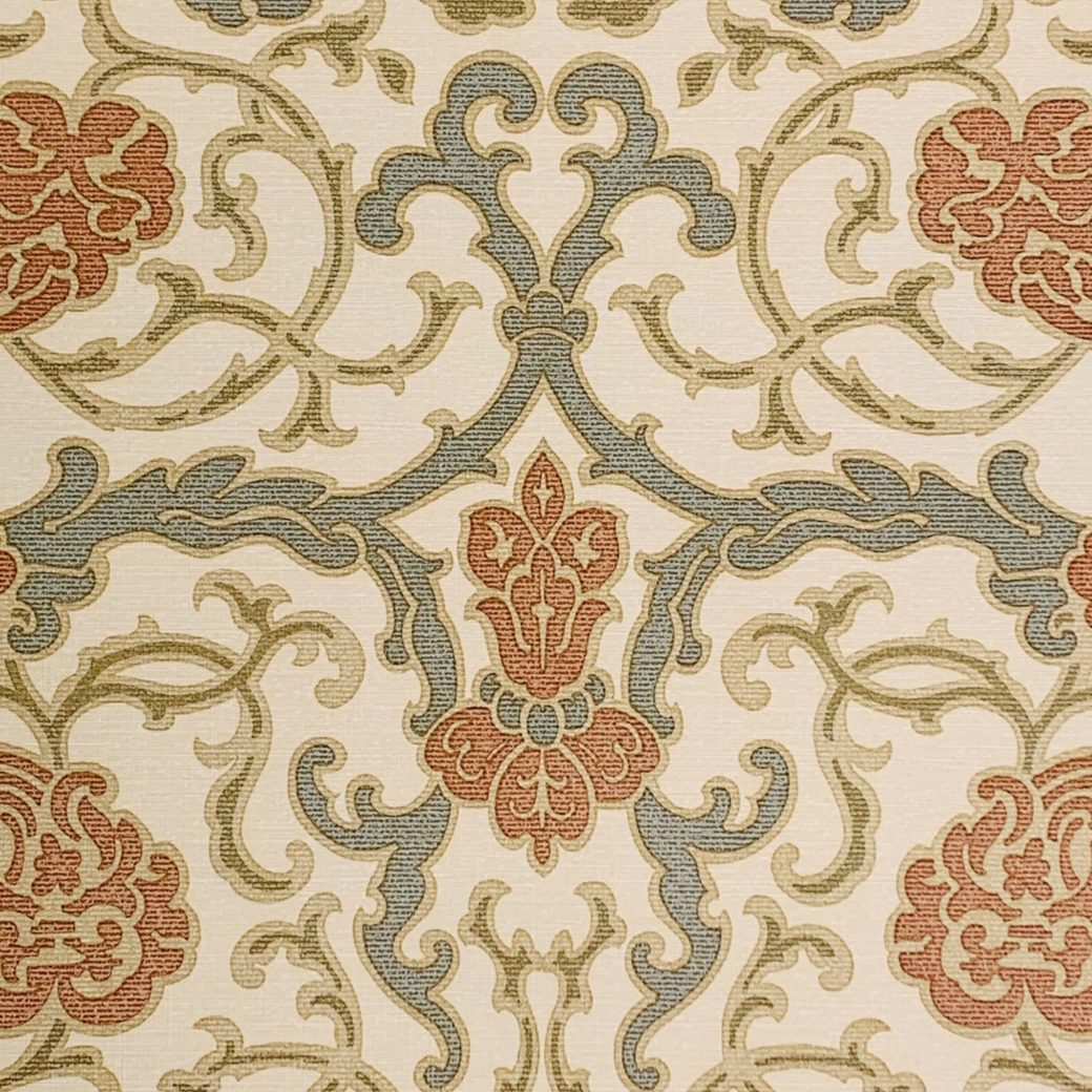 Vintage baroque vinyl wallpaper 4