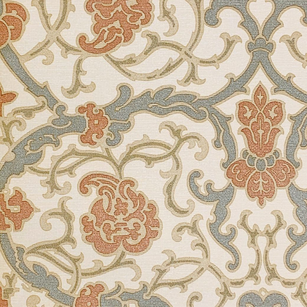 Vintage baroque vinyl wallpaper 3