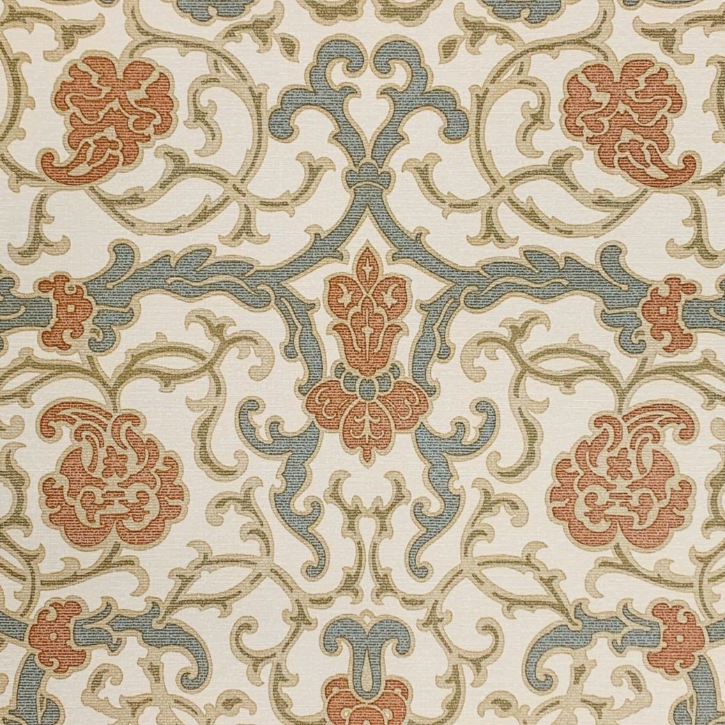 Vintage baroque vinyl wallpaper 2