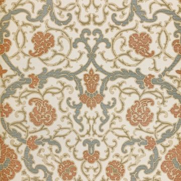 Vintage baroque vinyl wallpaper