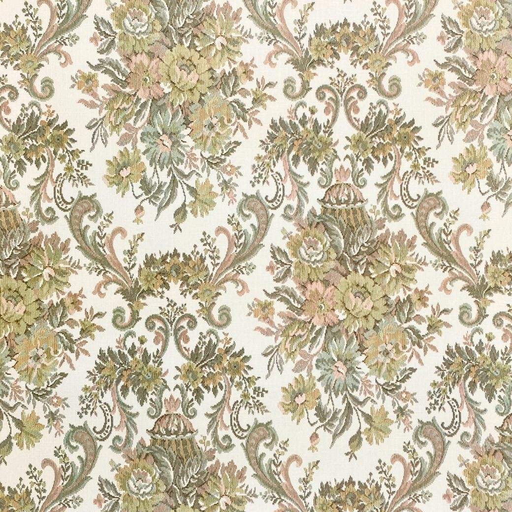 Vintage Baroque Wallpaper Brown and Green 1